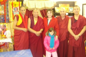 Felicia Slattery and Monks of the Dali Lama