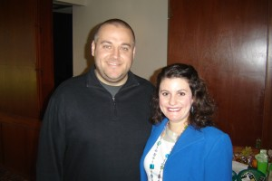 Felicia Slattery with John Morgan