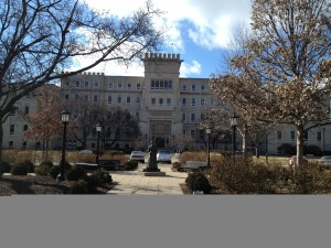 Bradley Hall, the iconic building of my alma mater, Bradley University in Peoria, Illinois