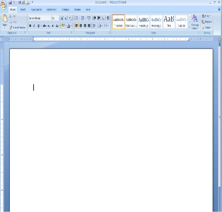 How do I get a blank page on my computer to write a letter