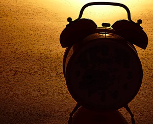 alarm clock in shadow