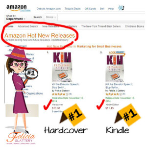 Kill the Elevator Speech Hits Numbers 1 and 2 in Hot New Releases on Amazon!