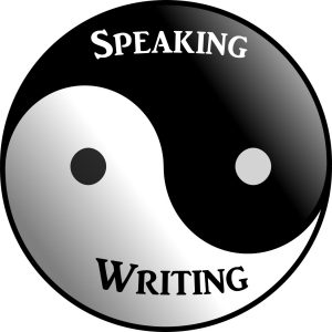 Speaking writing yin yang
