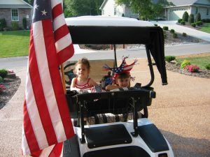 7-4-2004 independence day girls in golf cart